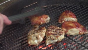 Grilled BBQ Chicken Thighs