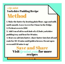 Tom's Blog Method for Yorkshire Pudding