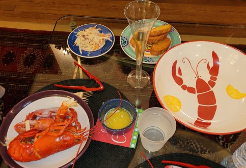 Boiling Lobsters - Dinner by the Fire