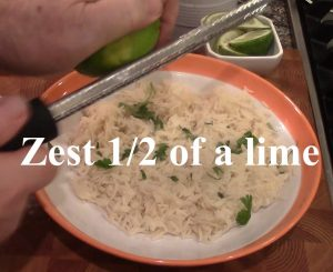 Zest of Lime Broiled Tilapia