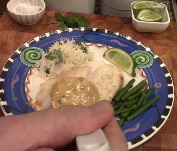 Broiled Tilapia Coconut Curry