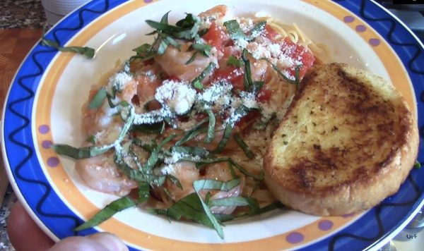 Pasta Pomodoro with Shrimp
