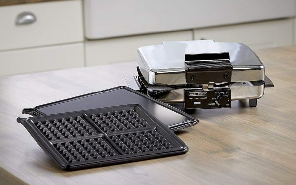 Black+Decker G48TD 3-in-1 Waffle Maker