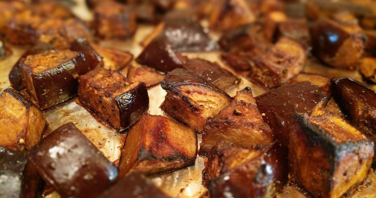Roasted Eggplant With Balsamic Glassa