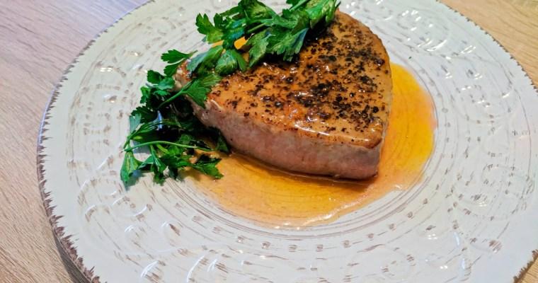 Ahi Steak With Orange Honey Glaze