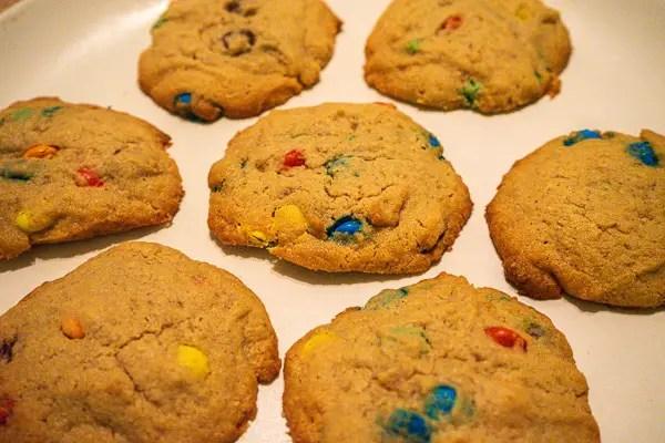 Peanut Butter M&M Cookies