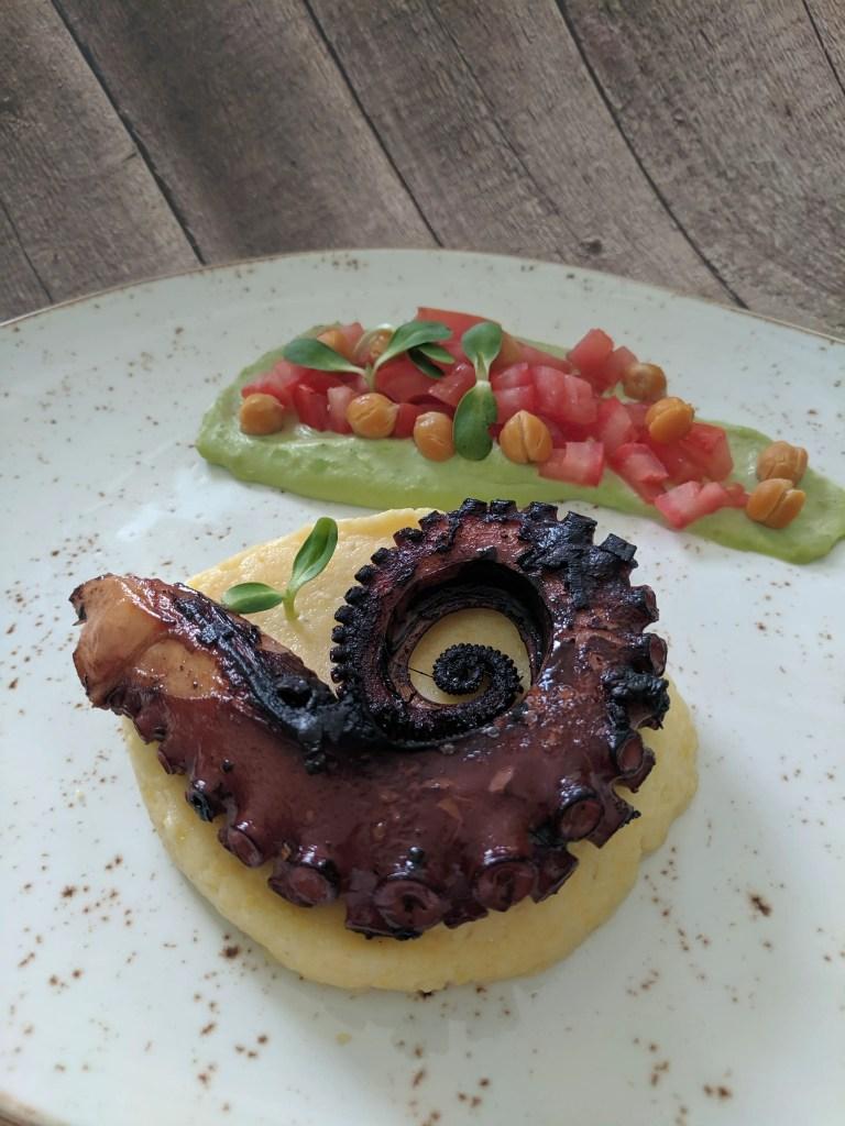 Grilled Octopus on Polenta