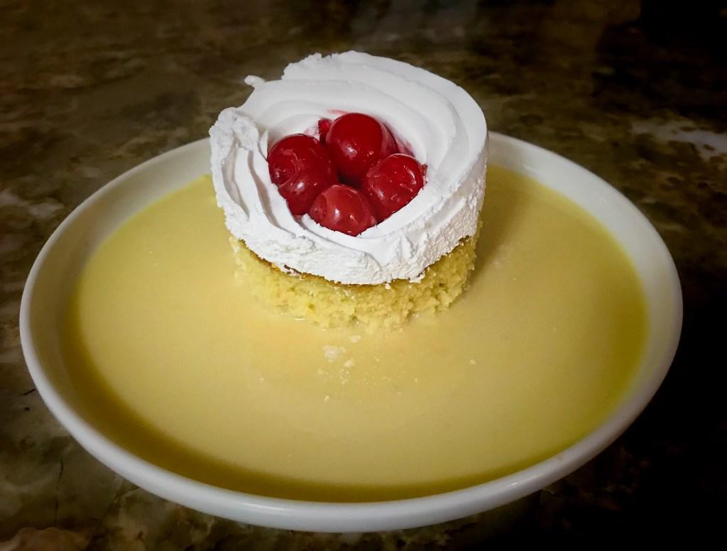 Tres Leches Cake with Maraschino Cherries