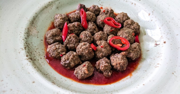 Adjika Sauce With Meatballs