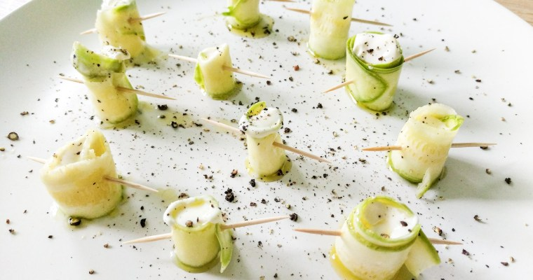 Zucchini Roll Up Hors d'Ouevre