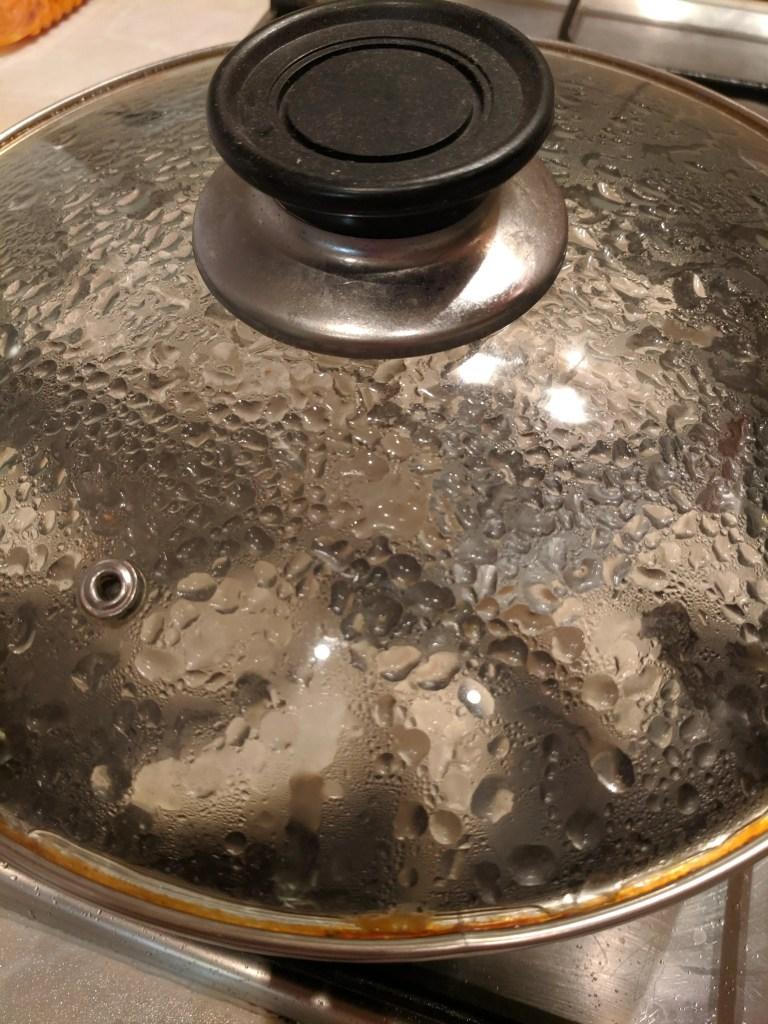 steaming the dumplings