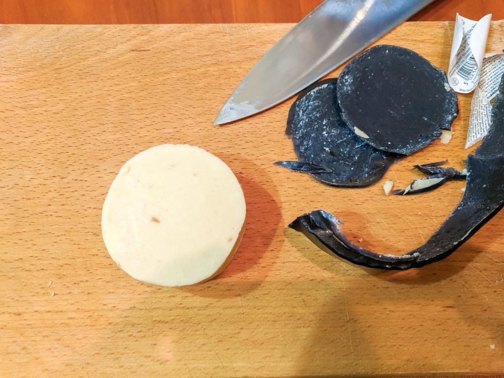 Wyke Farms Caramelised Onion Cheddar Wax Removed