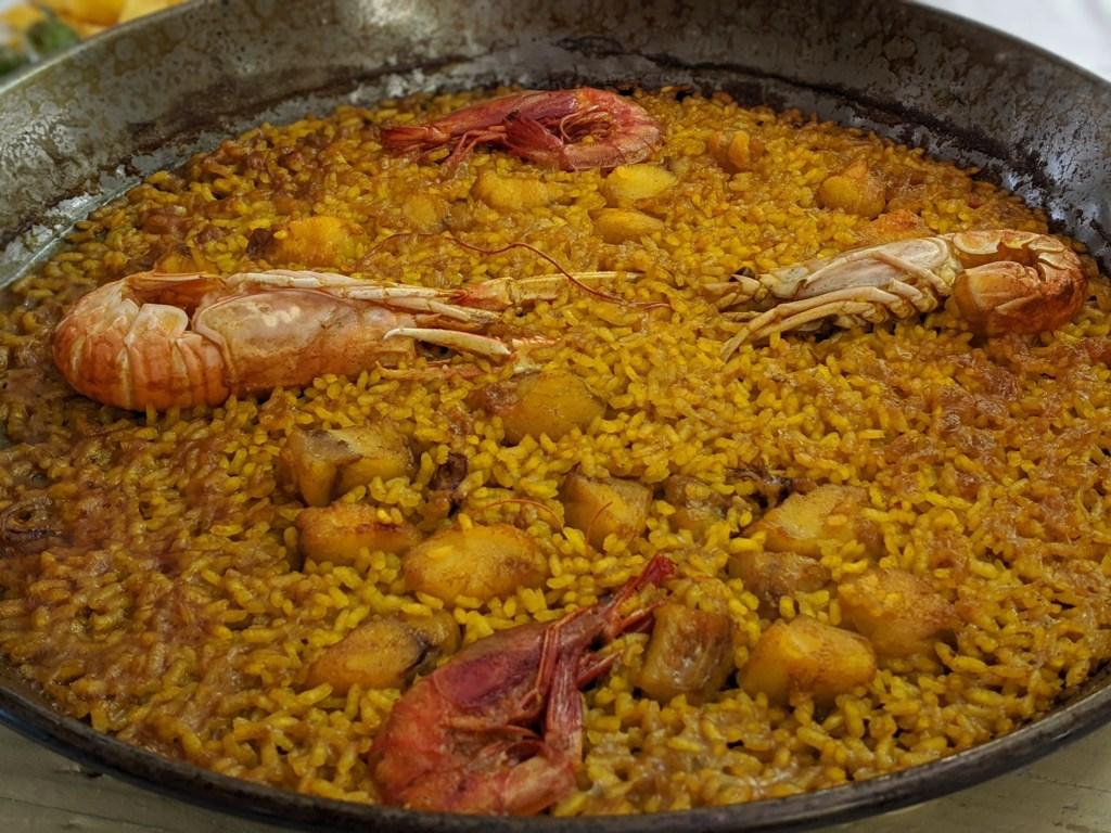 Seafood Paella at La Pepica in Valencia