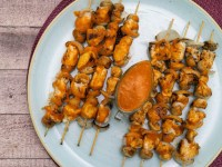 pollo bravas chicken skewers with bravas sauce