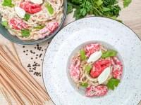 creamy crab pasta
