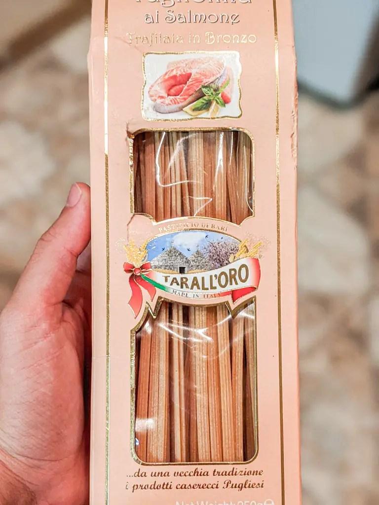 salmon tagliolini I used in my creamy crab pasta