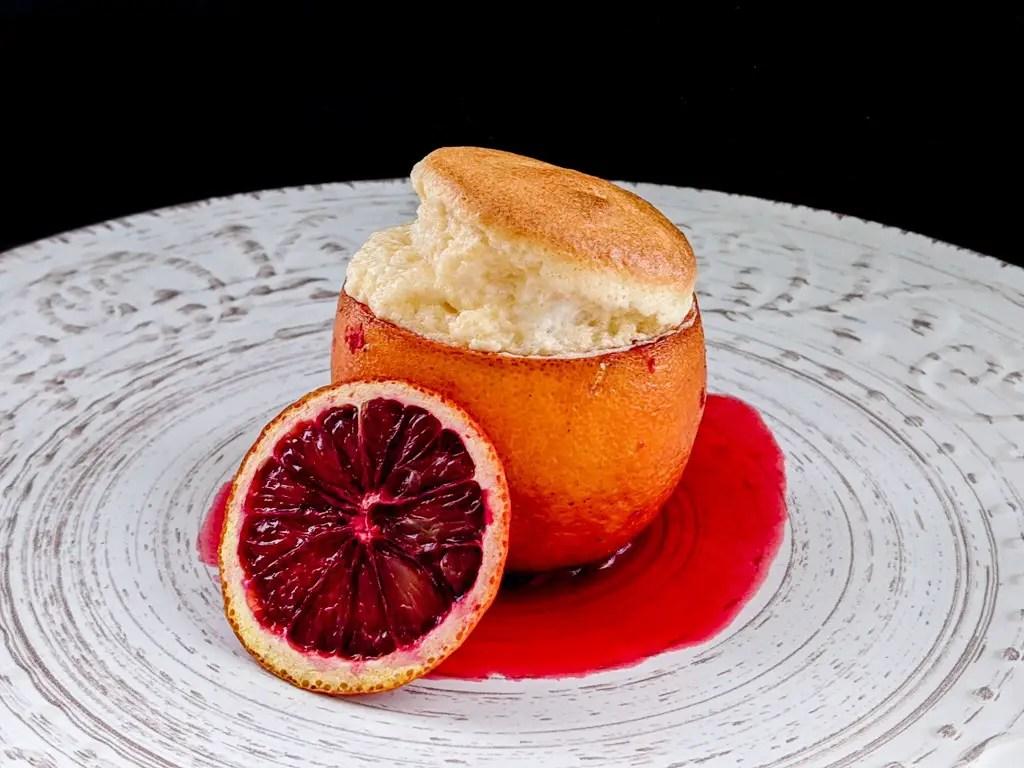 Blood Orange Cointreau Souffle