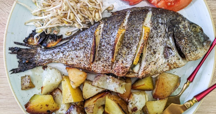 Mediterranean Baked Sea Bream (Gilt Head Bream, Dorada, Orata)