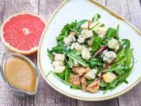 roquefort and candied walnut salad