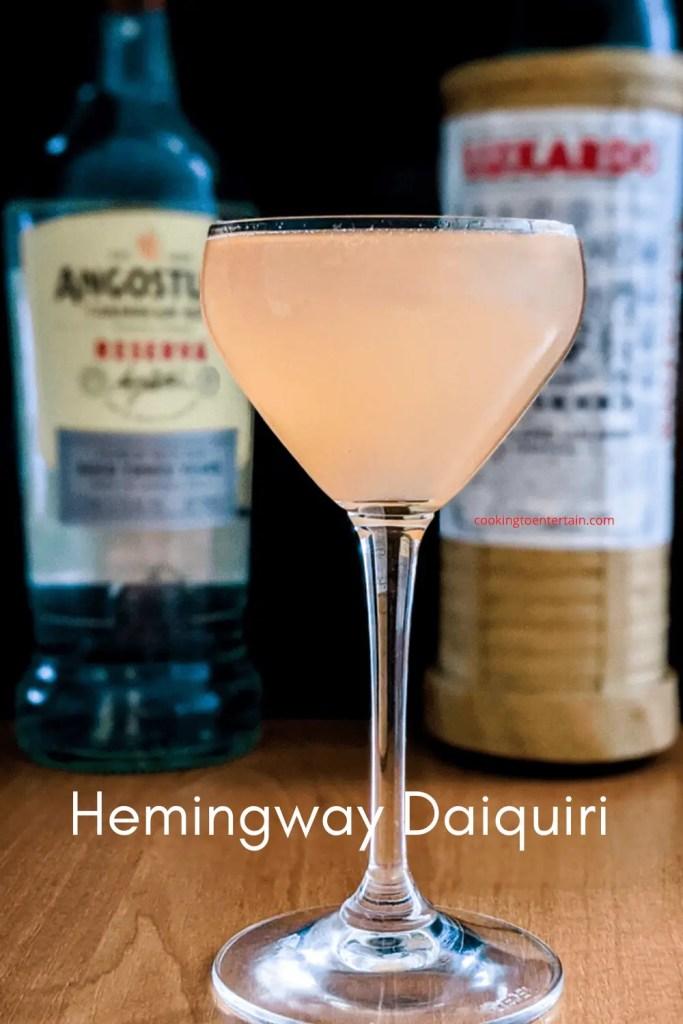 Hemingway daiquiri with white rum and luxardo