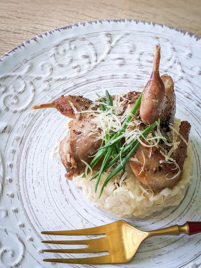 quail risotto