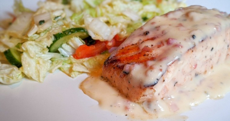 Salmon With Beurre Blanc