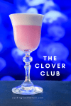 Clover Club cocktail pin