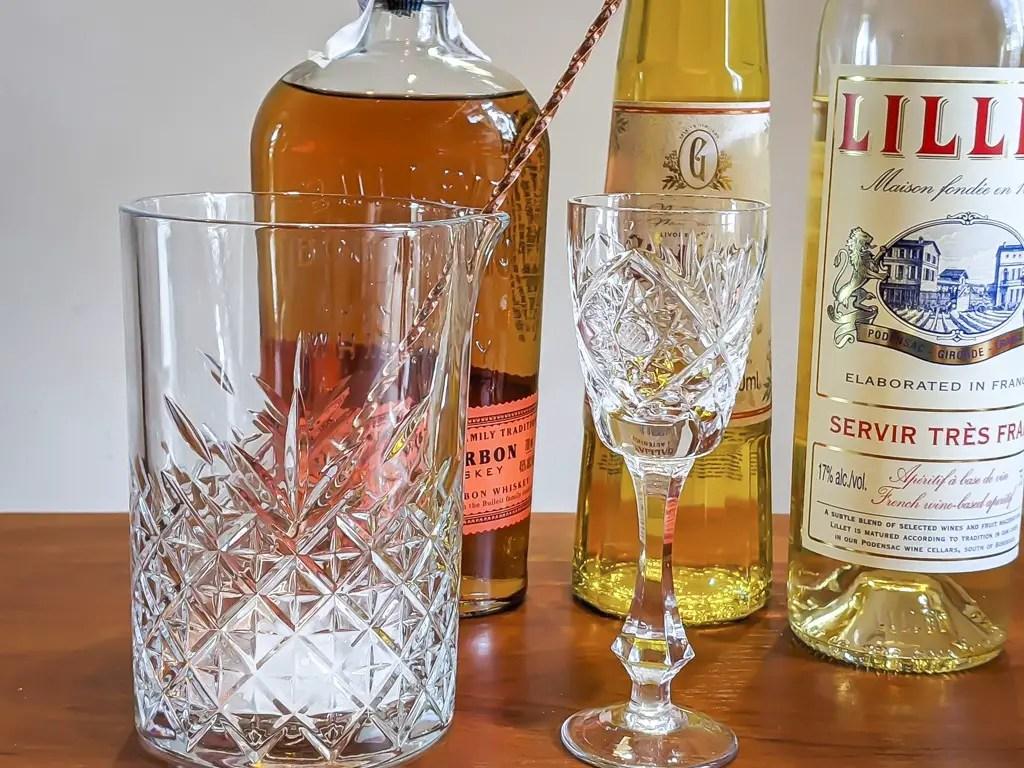 Dragon's Horde Cocktail Ingredients: bourbon, galliano, lillet blanc