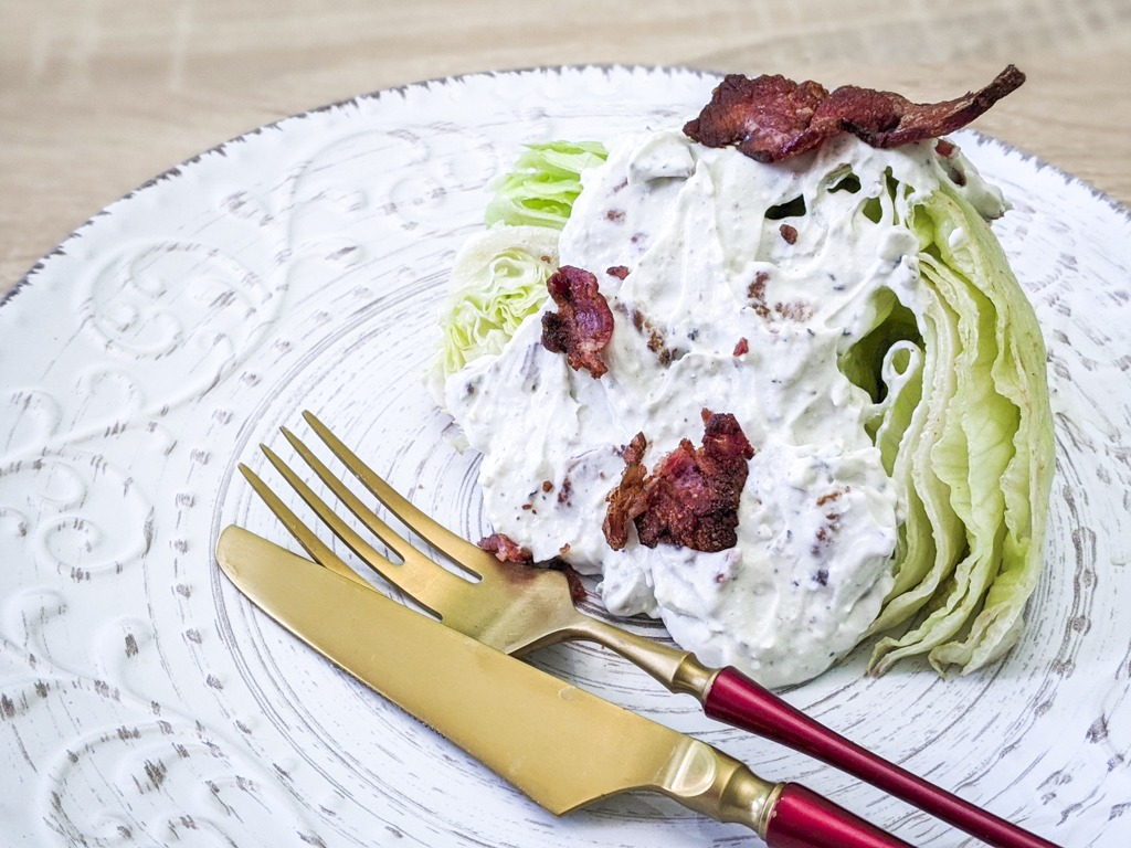 Iceberg Wedge With Bacon Blue Cheese Dressing