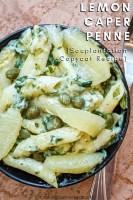 lemon caper penne pasta pin recipe