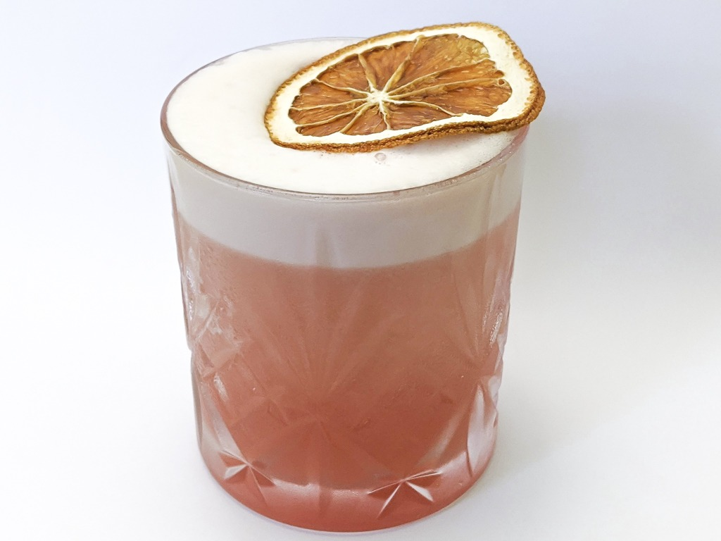 monte cassino cocktail with bourbon and campari