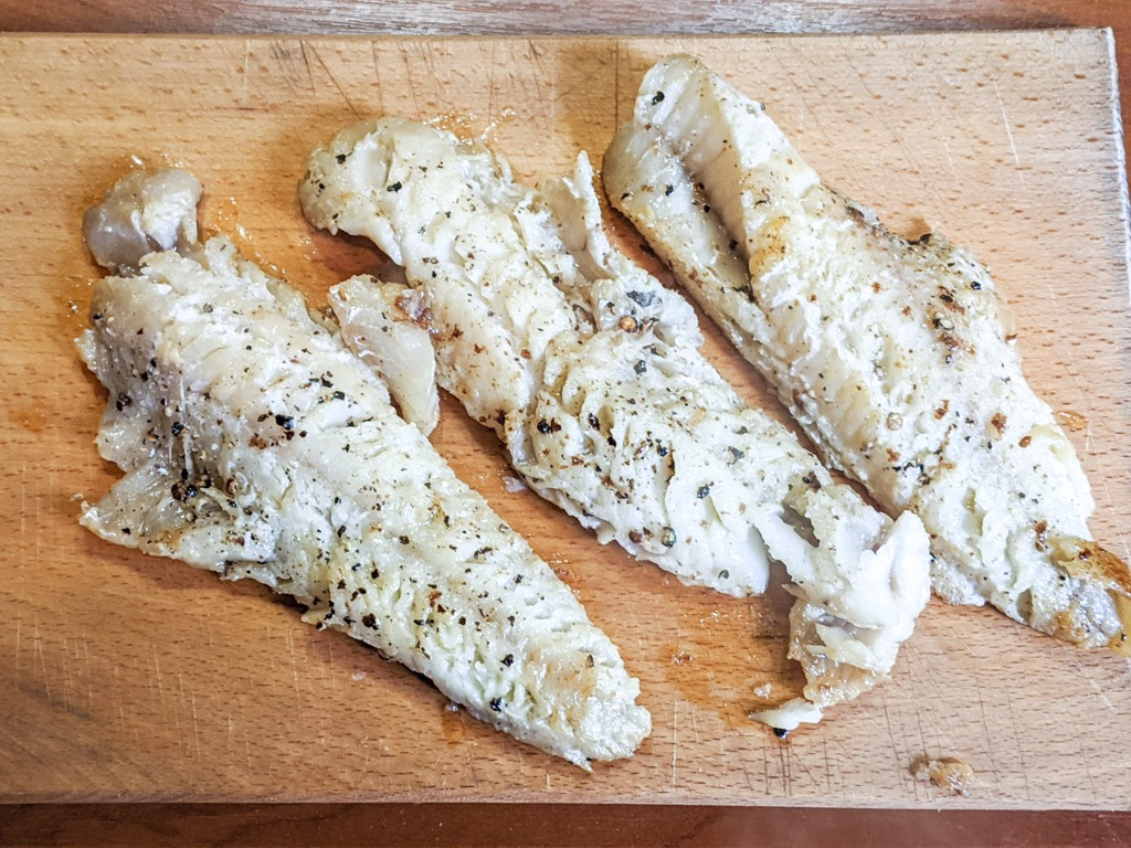 butter poached pike