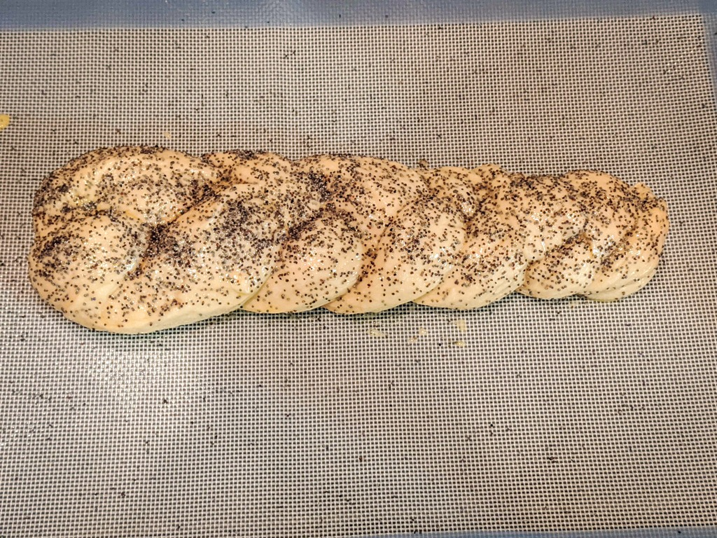 Poppy Seed Challah before baking