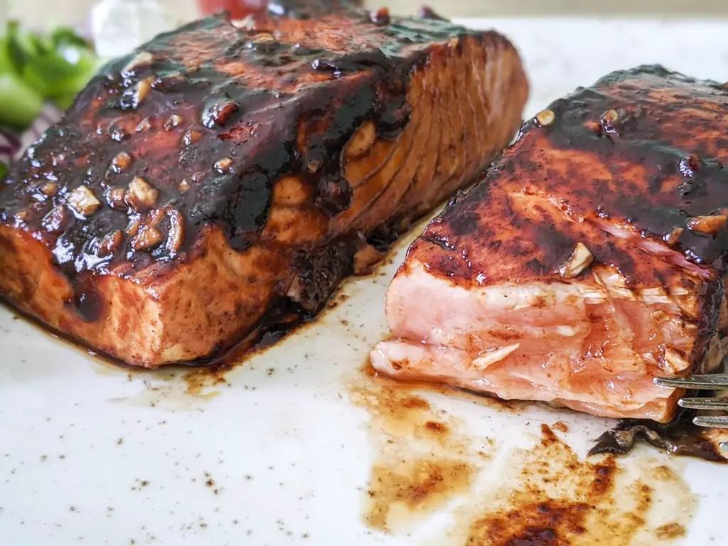 Sriracha Seared Salmon insuffisamment cuit