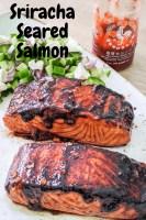 sriracha seared salmon pin recipe