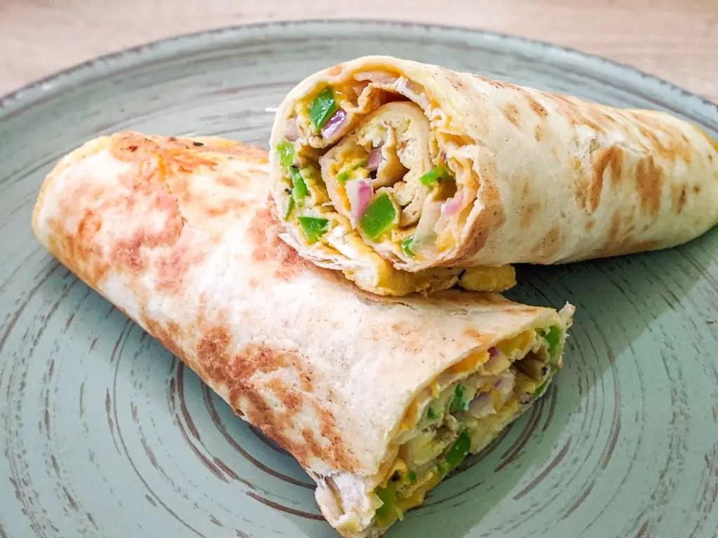 tortilla breakfast rolls inspired by Nadiya Hussain from Nadiya's time to eat