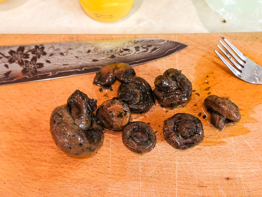 grilled mushrooms packed in oil