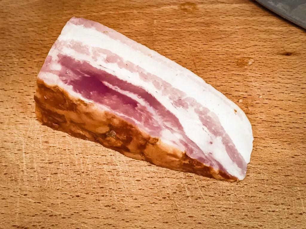 A block of Pancetta