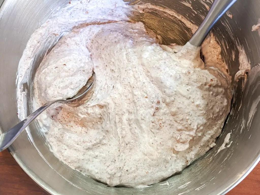 strawberry walnut meringue cookies mixture