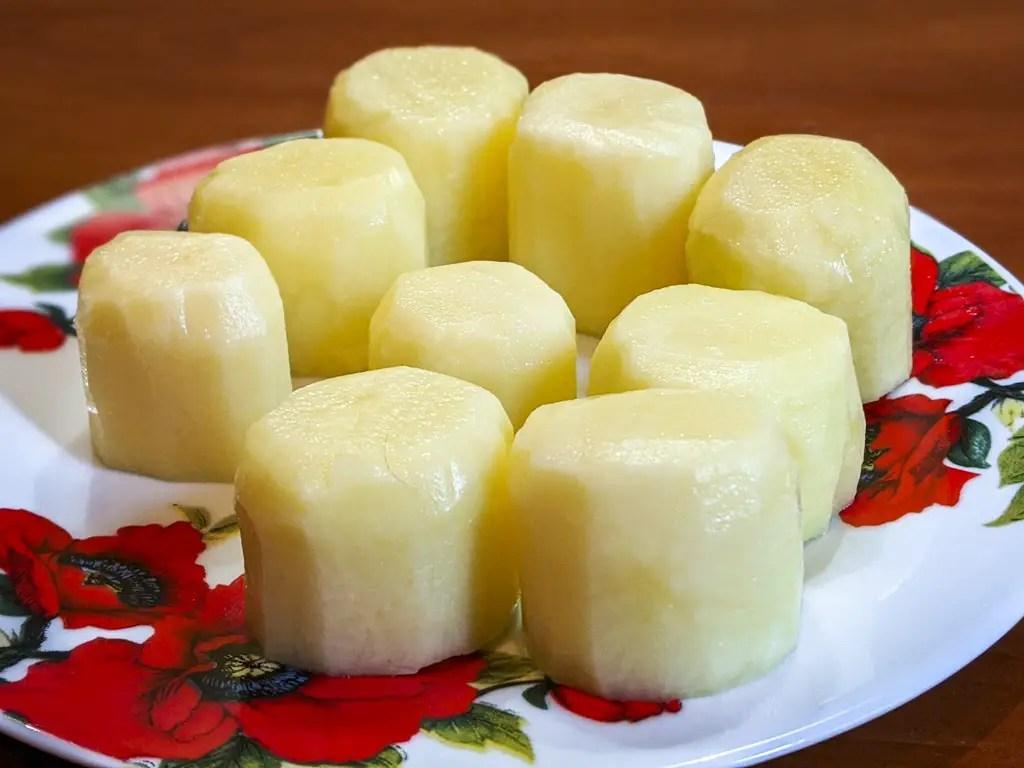 shape of fondant potatoes