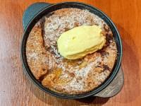 brown butter nectarine cobbler