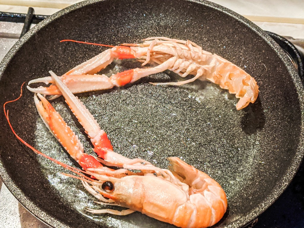 grilled langoustines