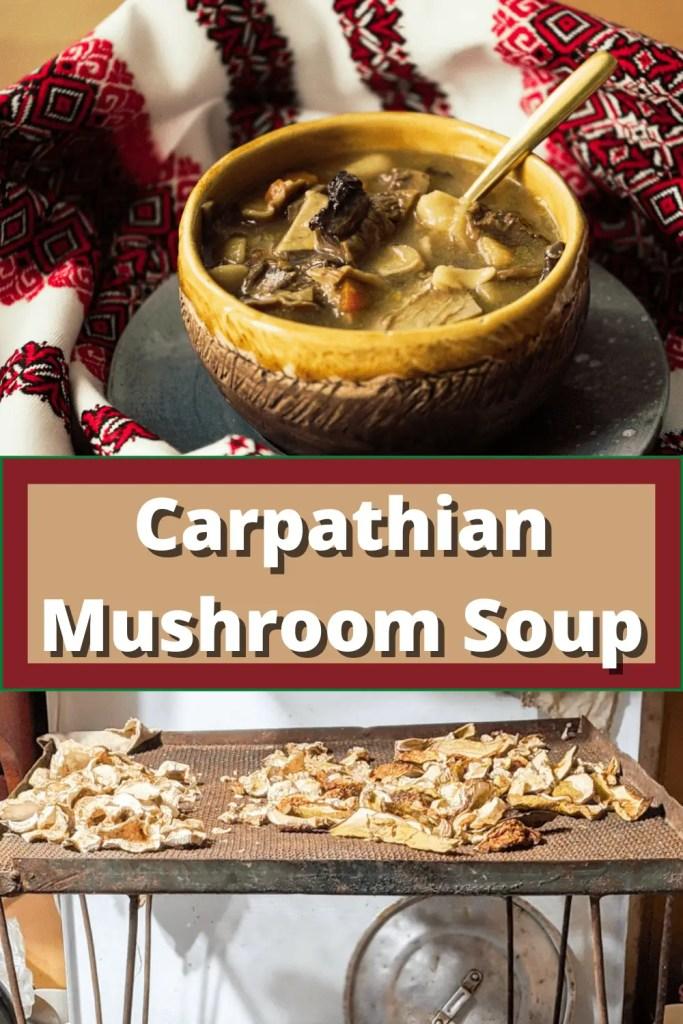 Carpathian Mushroom Soup Pinterest pin
