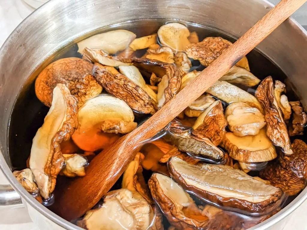 reconstituting porcini mushrooms for Carpathian Mushroom Soup