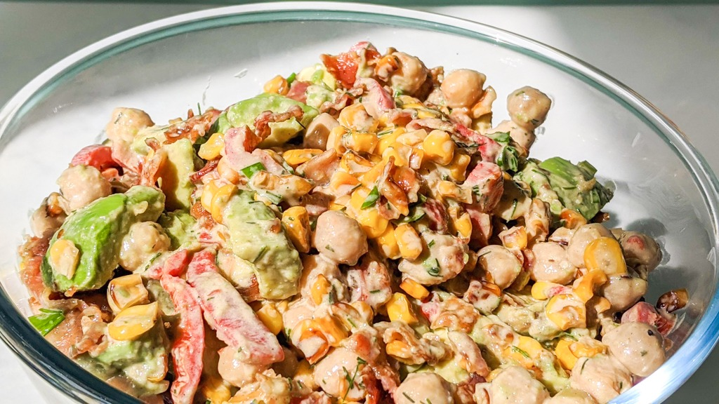 Southwest bacon avocado salad