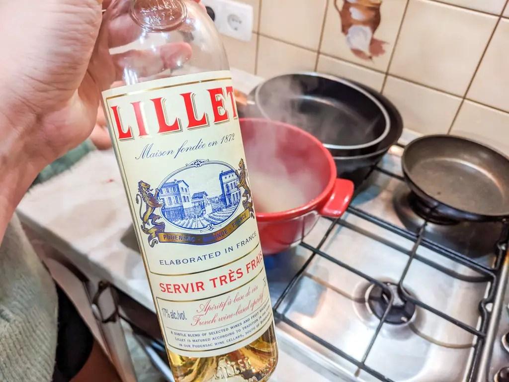 a bottle of lillet blanc