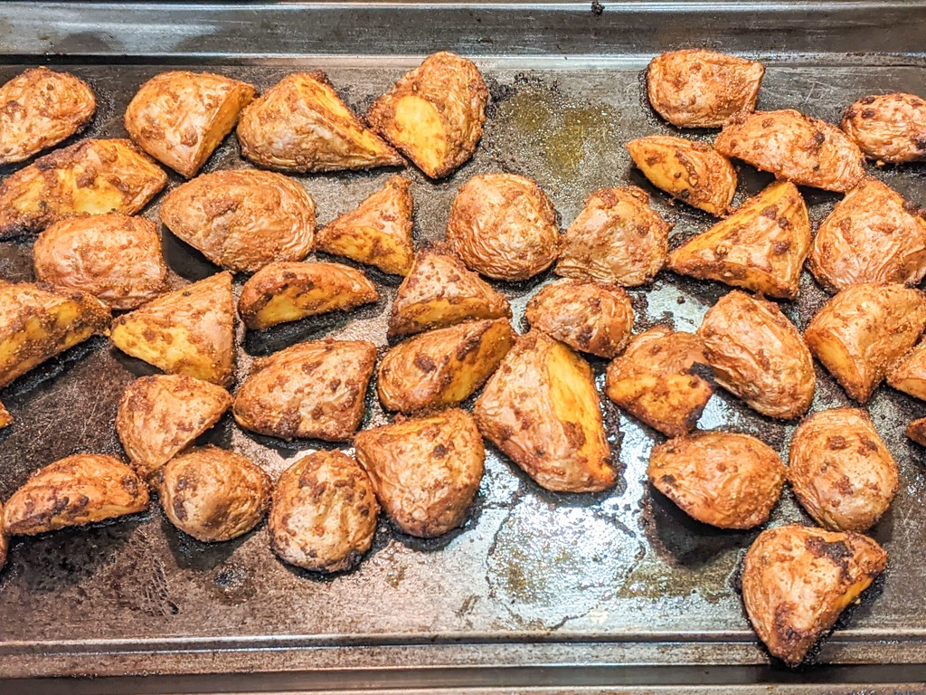 Freshly Curry Roasted Red Potatoes