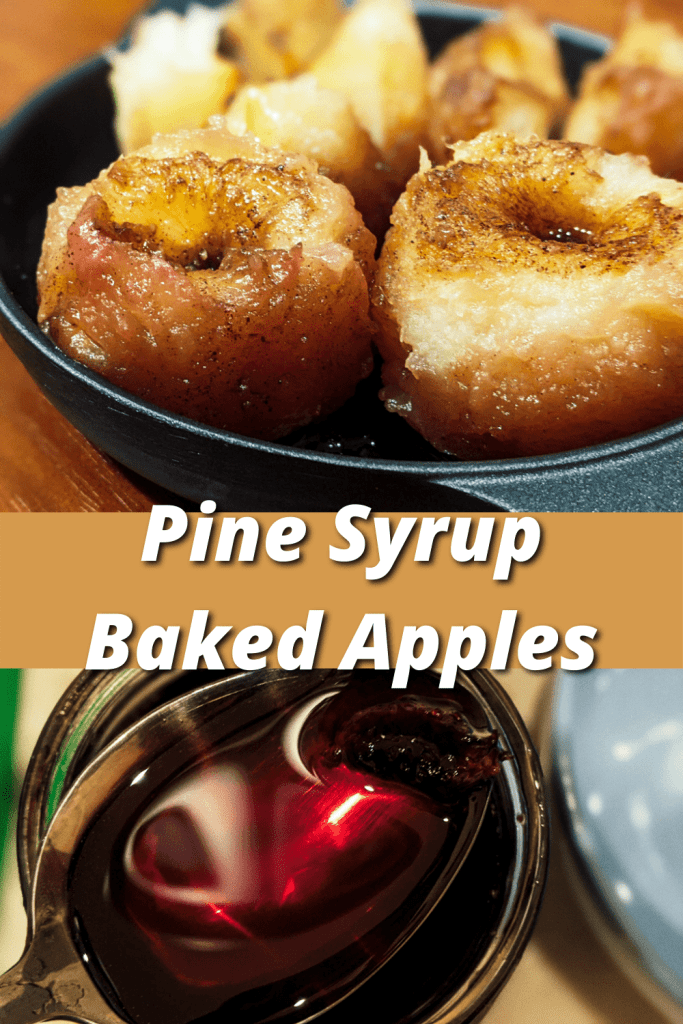Pine Syrup Baked Apples pinterest pin