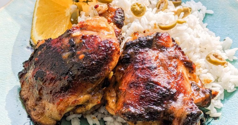 Tropical Grilled Chicken Thighs