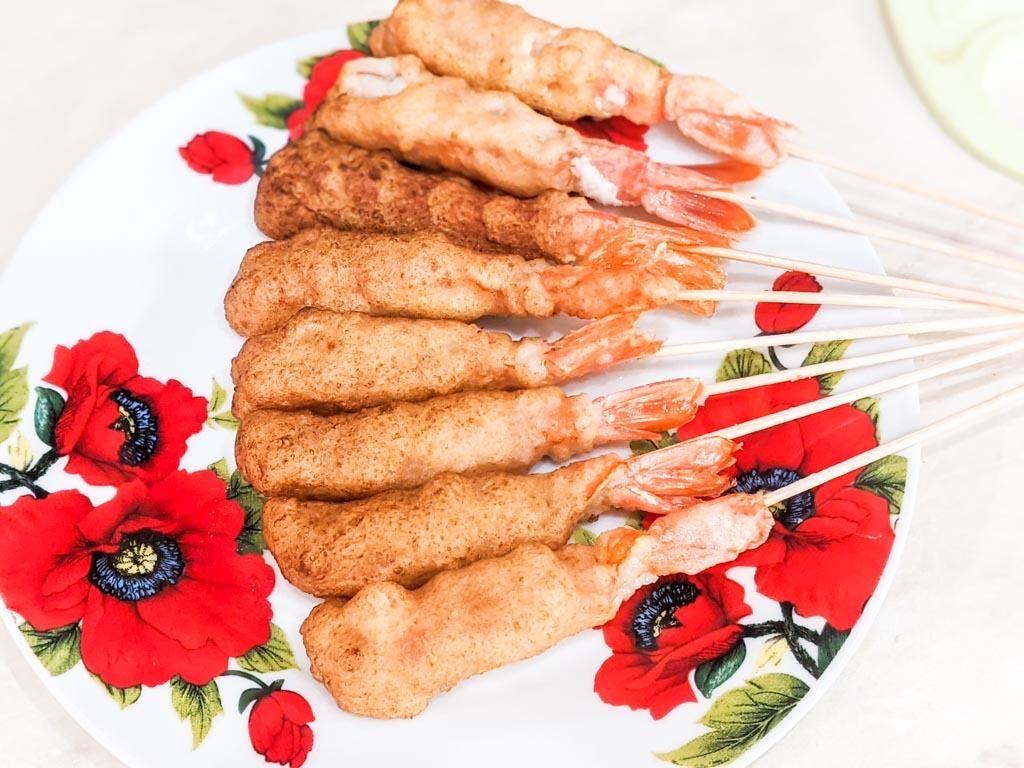 Cinnamon Toast Crunch Tempura Shrimp